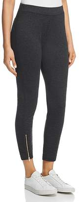 Three Dots Zip-Hem Cropped Leggings