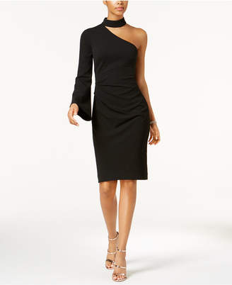 Vince Camuto Mock-Neck One-Shoulder Dress