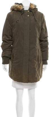 DKNY Hooded Short Coat
