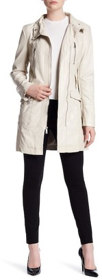 Kenneth Cole New York Faux Leather Coat $225 thestylecure.com