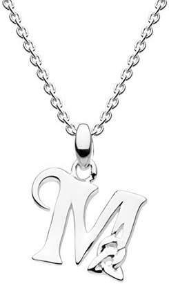 Heritage Sterling Silver Celtic Initial M Necklace of Length 45.7cm