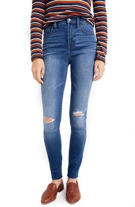 Madewell Roadtripper Ripped High Waist Ankle Skinny Jeans