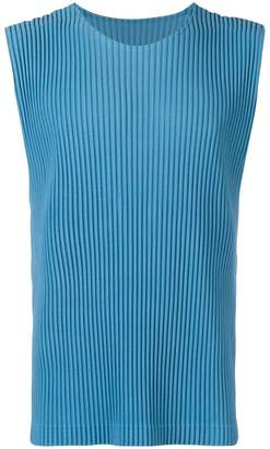 Issey Miyake Homme Plissé ribbed tank top