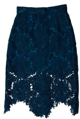 House of Holland Lace Knee-Length Skirt