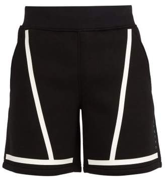 BLACKBARRETT by NEIL BARRETT Mid Rise Line Print Jersey Shorts - Mens - Black White