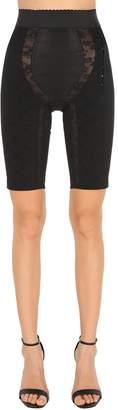 Dolce & Gabbana Stretch & Satin Cycling Style Shorts