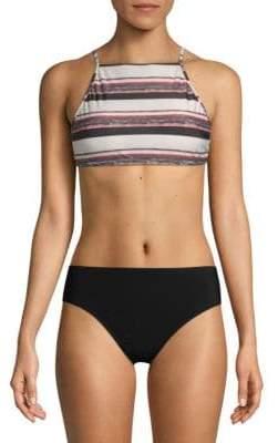 Vix Paula Hermanny Mary Stripe Halter Swim Top