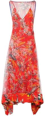 Dvf Diane Von Furstenberg sheer stripe dress