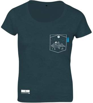 ANCHOR & CREW - Steel Blue Horizon Print Organic Cotton T-Shirt (Womens)
