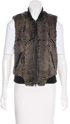 Tracy Reese Textured Leather Vest