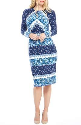 60a486c8585 Maggy London Placement Print Sheath Dress