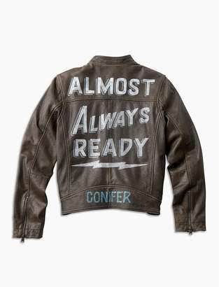 Lucky Brand Ornamental Conifer Ready Leather Jacket