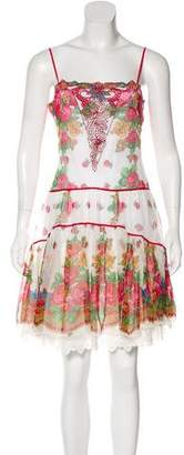 Blumarine Floral Print Mini Dress