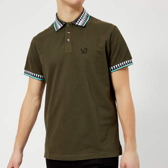 Versace Men's Piping Detail Polo Shirt