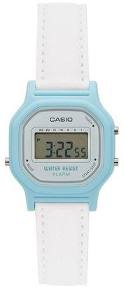 Casio Women's White and Blue Digital Watch
