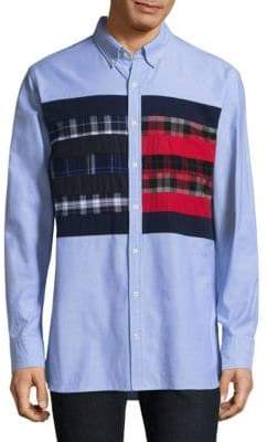 Tommy Hilfiger Flag Cotton Casual Button-Down Shirt