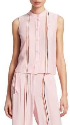 Emporio Armani Silk Stripe Top