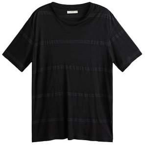 Mango Man MANGO MAN Stripped fluid t-shirt