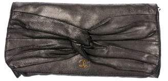 Just Cavalli Metallic Bow Clutch