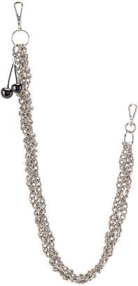 Raf Simons Black Cherries Twisted Wallet Chain in Silver | FWRD