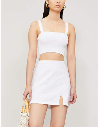 KENDALL + KYLIE PacSun x Kendall & Kylie Broderie-anglaise cotton-blend mini skirt