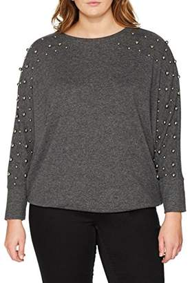 Dorothy Perkins Curve Women's Metal Ball Long Sleeve Top