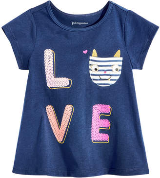 First Impressions Baby Girls Graphic-Print Pocket Cotton T-Shirt