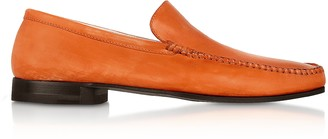 Pakerson Orange Italian Handmade Leather Loafer Shoes
