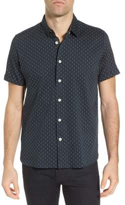 Ted Baker Franktt Extra Slim Fit Stretch Short Sleeve Sport Shirt