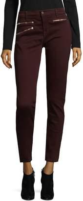 J Brand Women's Zip Stretch Pants - Burgundy, Size 30 (8-10)