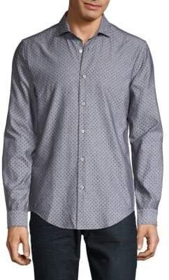 HUGO BOSS Ridley Polka-Dot Shirt