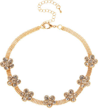 Natasha Accessories Womens Clear Flower Choker Necklace