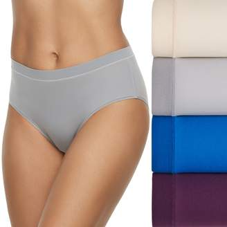 Fruit of the Loom Women's 4-pack Signature Everlight Low Rise Brief Panty 4DELSLR