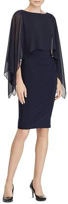 Lauren Ralph Lauren Crepe Overlay Dress