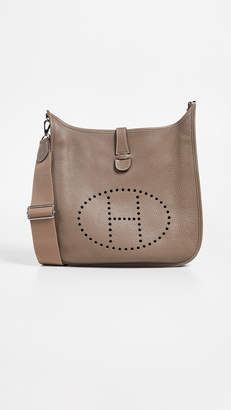 Hermes What Goes Around Comes Around Grey Clem Evelyne Bag