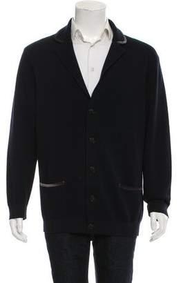 Giorgio Armani Woven Button-Up Cardigan
