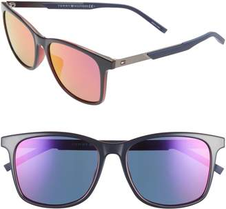Tommy Hilfiger 55mm Special Fit Rectangular Sunglasses