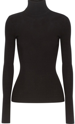Michael Kors Collection - Ribbed-knit Turtleneck Sweater - Black $595 thestylecure.com