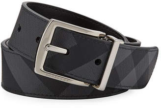 Burberry Men's Clarke Two-Tone Check Belt