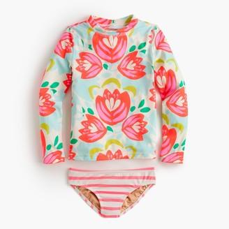 Girls' rash guard bikini set in cactus floral $59.50 thestylecure.com