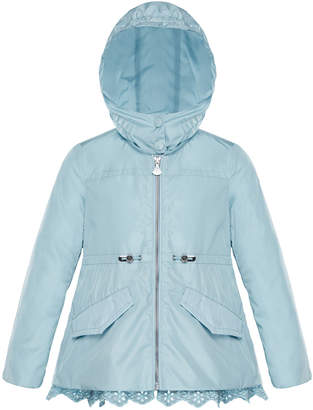 Moncler Lotus Wind-Resistant Jacket w/ Eyelet Hem, Size 8-14