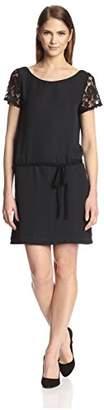 Society New York Women's Lace Sleeve Dress