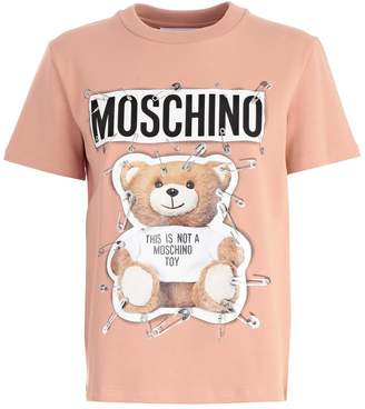 Moschino Teddy Bear And Safety Pin Print T-shirt