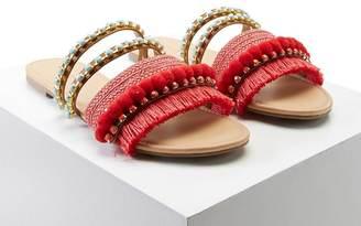 FOREVER 21+ Fringed Pom Pom Sandals $22.90 thestylecure.com