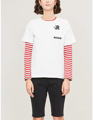 Chocoolate Penguin-print cotton-jersey T-shirt
