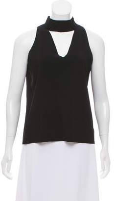 Milly Sleeveless Mock Neck Top