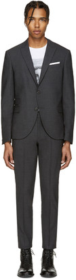 Neil Barrett Grey Classic Skinny Suit $1,375 thestylecure.com