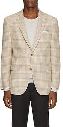 Pal Zileri MEN'S CHECKED WOOL-BLEND TWO-BUTTON SPORTCOAT - GOLD SIZE 44 R