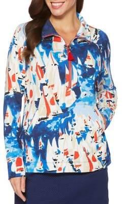 Rafaella Petite Sailboat Printed Pullover
