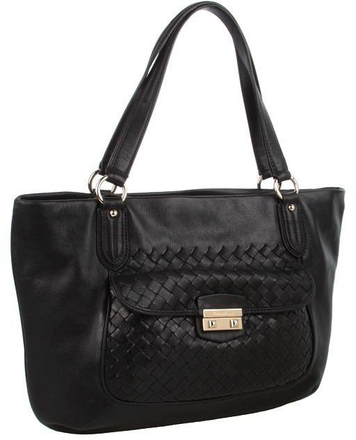 Cole Haan Victoria Zip Top Tote (Black) - Bags and Luggage